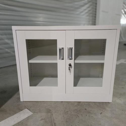 GEAR Low Steel Display Cabinet in IVORY