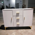 VIVA Scandi Sideboard in WHITE with Gold Accent