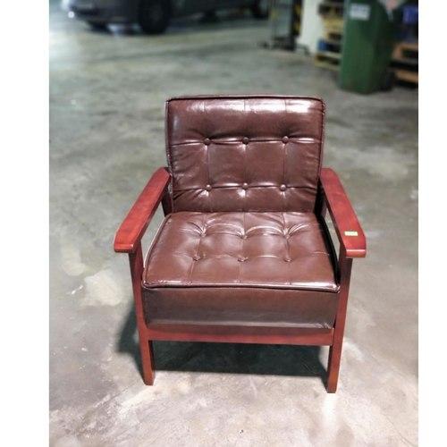 VANZ Designer Armchair in BROWN PU
