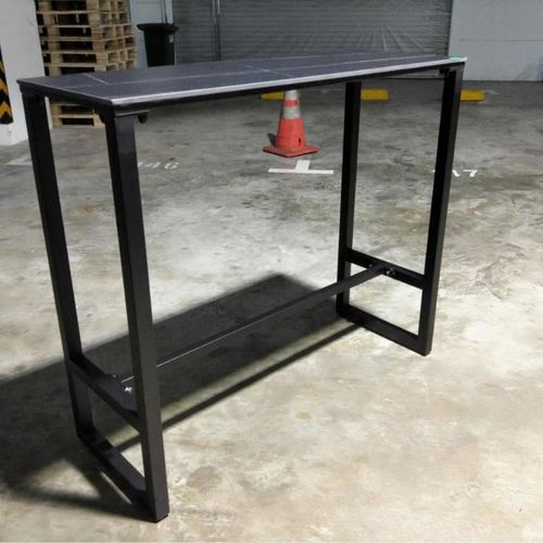 SOCIETY Contemporary Designer Black Ceramic Slate Bar Table