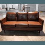 (PRE-ORDER) VALENTE Designer 3 Seater Modern Sofa in GLOSS BROWN PU - Estimated Delivery in End November 2021
