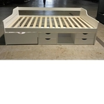 RUZENDA Wooden Single Day Bed with Drawers in WHITE