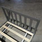 RUZENDA Single Size Wooden Bed Frame in GREY