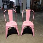 2 x VADO Retro Metal Chair in PINK