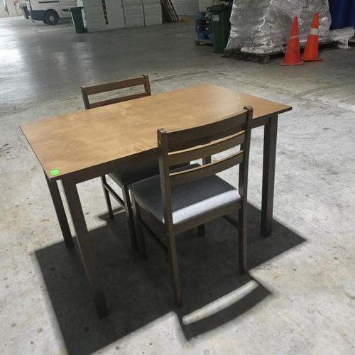 TITAN II Dining Set (2+1) in WALNUT