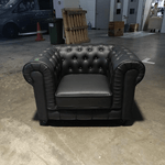 (PRE-ORDER0 SALVADO II Single Seater Sofa in MATT BLACK PU - Estimated Delivery in End November 2021