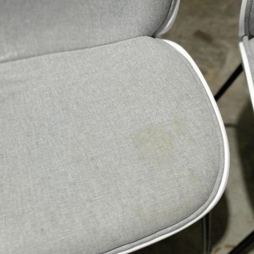 4 x VOLKZ Chair in GREY FABRIC