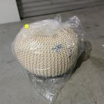 PAMA Knitted Pouffe in BEIGE