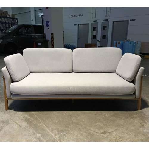ENKA 3 Seater Sofa in LIGHT GREY FABRIC