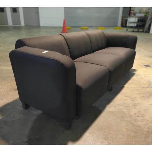 KELLER 3 Seater Sofa in CHARCOAL BLACK