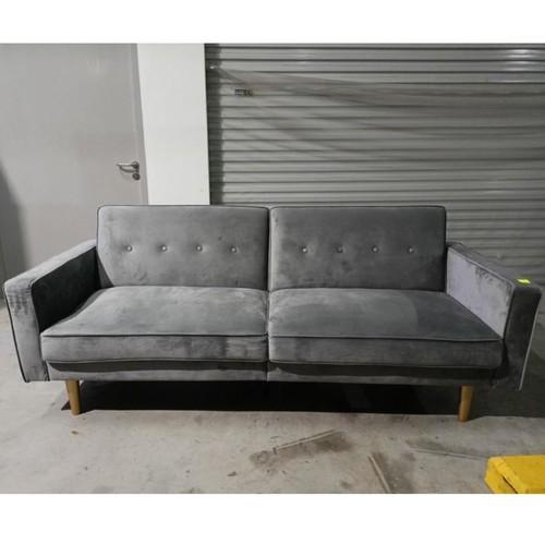 TERLINA 3 Seater Sofa Bed in GREY VELVET