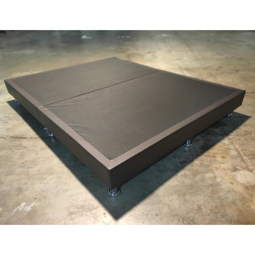 GASTEN II Faux Leather Queen Divan in Dark Chocolate