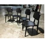 4 x JERLIA Dining Chair in DIAMOND BLACK