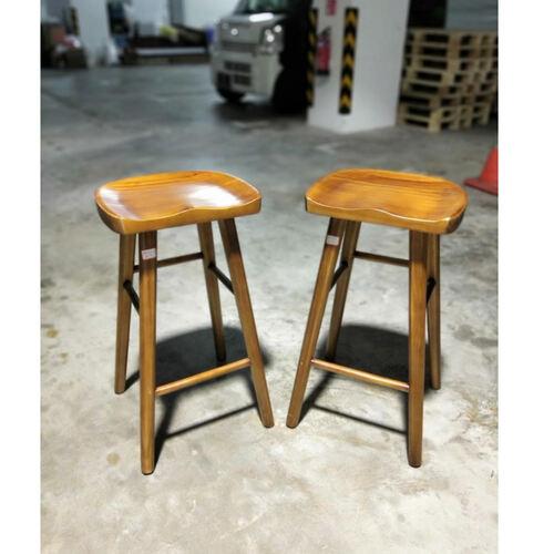 Pair of RAZTIK Solid Wood Bar Stool
