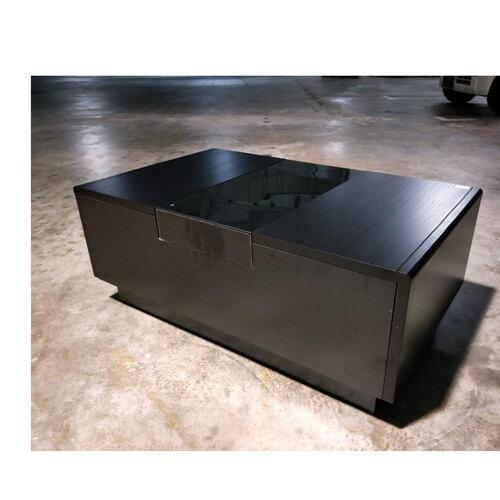 GARRIS NOIR Modern Coffee Table in BLACK