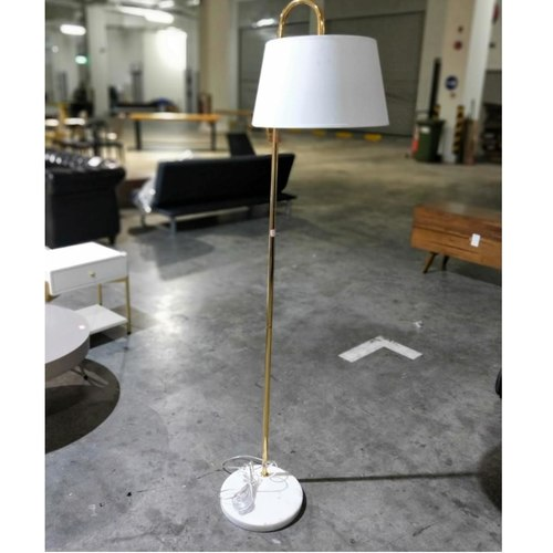 HATLER Chrome Gold Floor Lamp with Marble Base
