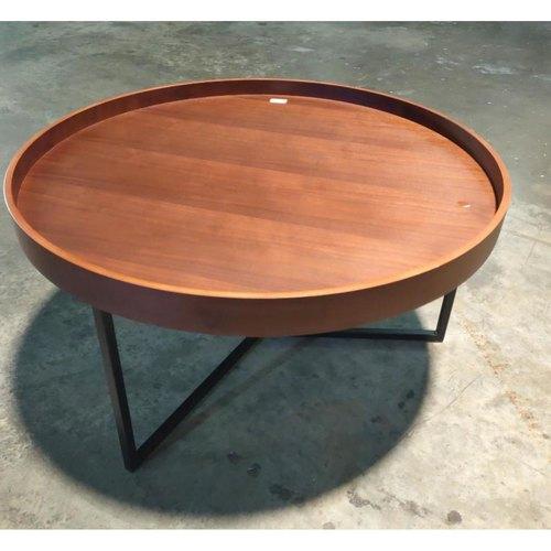 EBEL MINIMALIST Round Tray Table in WALNUT