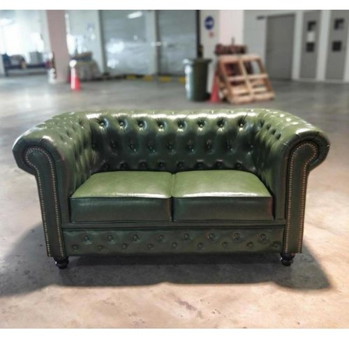 (PRE-ORDER) SALVADORE X 2 Seater Chesterfield Sofa in EMERALD GREEN - Estimated Delivery in Mid August 2021
