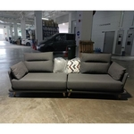 NACCIATO 4 Seater Grey Fabric Sofa