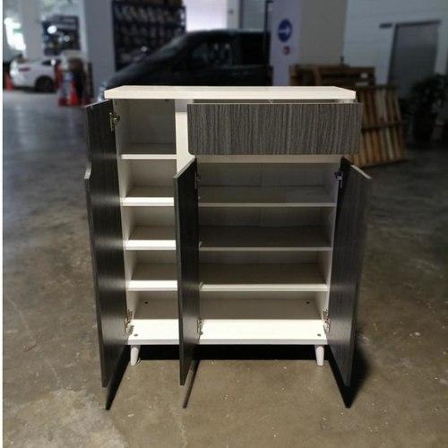 VALDAMIR Shoe Cabinet in ASH & WHITE
