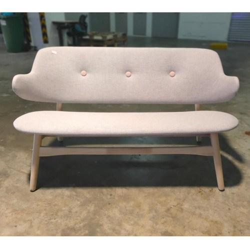 EFFEN 2 Seater Sofa Chair in LIGHT GREYt