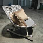 VONZA Scandinavian Rattan Rocking Chair