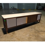 SELINE Extendable TV Console with marble top