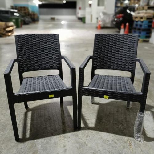 2 x LORRAINE Outdoor Armchair in GREY