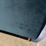 DENERRY 3 Seater Sofa in BLUE VELVET