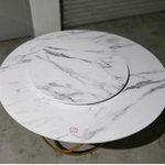STARA Contemporary Round Marble with Lazy Suzie
