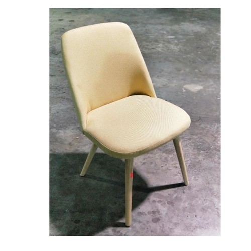 RAE Dining Chair Natural with Yellow Cushion