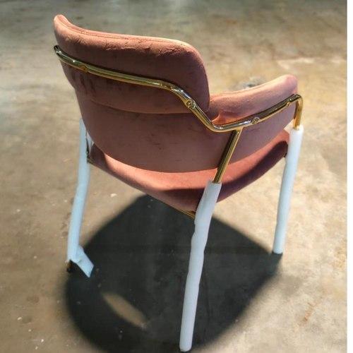 EMMEX Velvet Dining Chair in BROWN