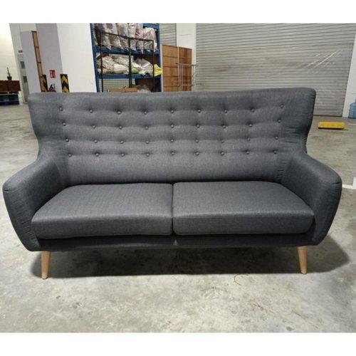 SCAN X WINGBACK II 3 Seater Sofa in STONE GREY FABRIC