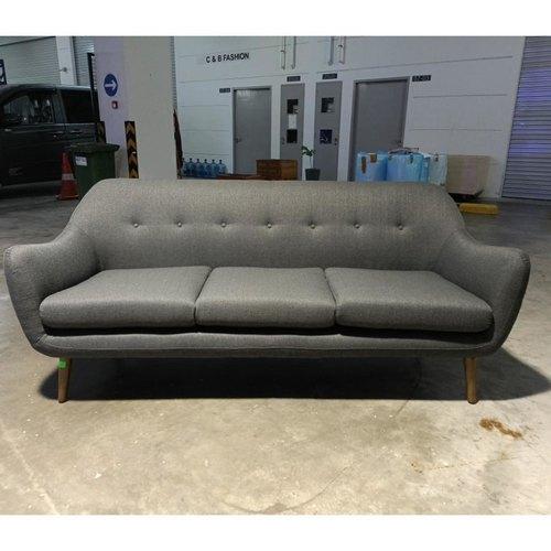 ROZETTA 3 Seater Sofa in Dark Grey Fabric
