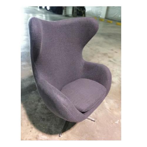 PROMETHEUS Designer Replica Egg Chair in CHARCOAL GREY