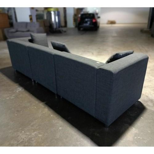 VEDIENA 4 Seater Sofa in STONE GREY FABRIC