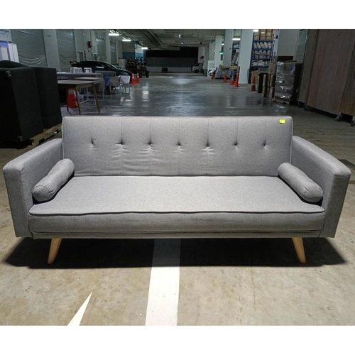 HANNA II Sofa Bed in LIGHT GREY FABRIC