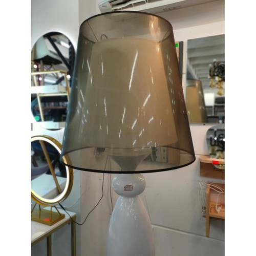 ROSANNE WHITE Standing Floor Lamp with Shade MD30054-3-600