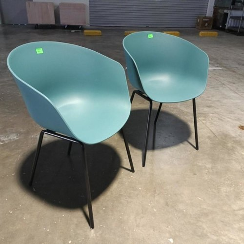 2 x GYRO Chairs in TEAL GREEN