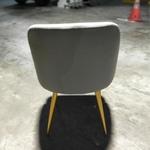FAITH Designer Grey Velvet Dining Chair