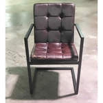 LARA INDUSTRI Series VINTAGE Armchair in DARK BROWN