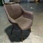 HOLMAR Armchair in DARK COCO