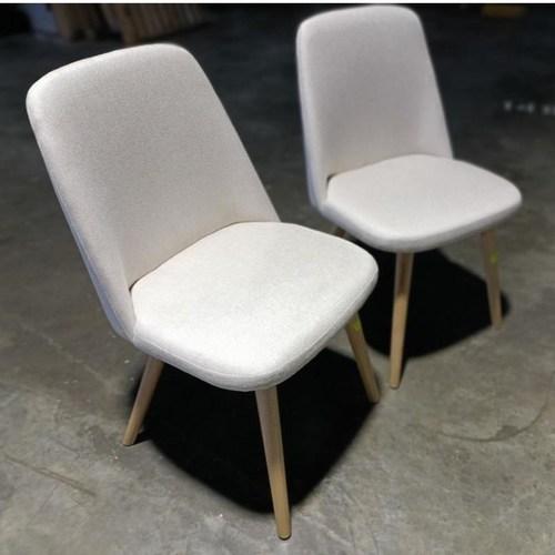 2 x RAE Dining Chair with CREAM CUSHION