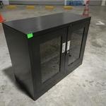 GEAR Low Steel Display Cabinet in BLACK