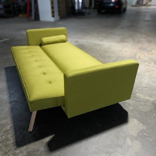 HANNA II Sofa Bed in LIME GREEN Fabric