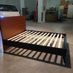 HAASVANI Queen Size Wooden Bed frame