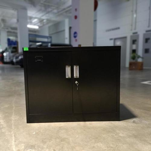 GEAR Low Steel Metal Cabinet in BLACK