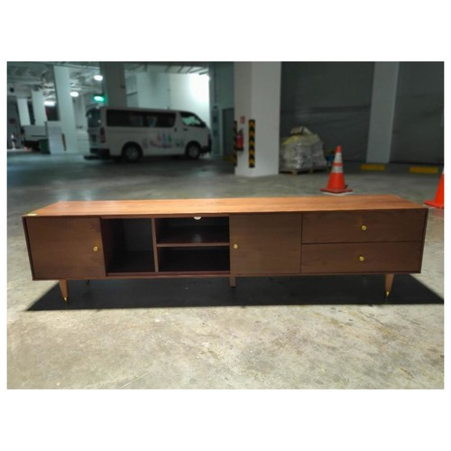 ALIYA TV Console in Walnut