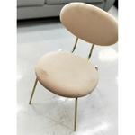 VIE Chair Light Pink with Gold Legs