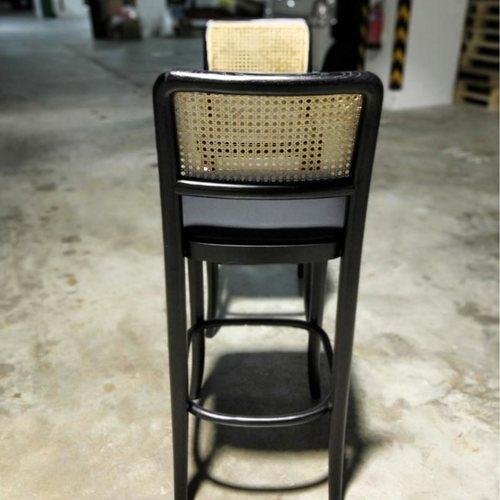 Pair of VOLONIA Rattan Bar Chair in BLACK